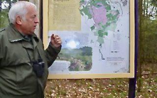 440  gestart met bosbouw: 2 paden haaks op elkaar voor afvoer